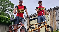 Pair take on 55km charity ride on Seventies bicycles