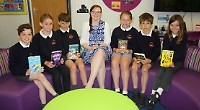 Pupils thrilled with new school library in portable cabin