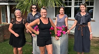 Jellyfish, saltwater and huge waves... women ready for swim