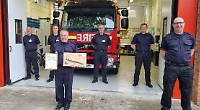 Firefighter retires after 20 years living childhood dream