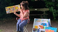 Outdoor storytimes resume with gift of sunflower seeds