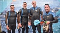 Long way to swim for free beer (and bottle opener)