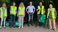 Volunteers collect 10 bags of rubbish... and a kettle
