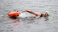 Swim marathon shortened