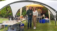 Villagers brave the rain at summer barbecue evening