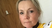 Woman cycles in memory of boy