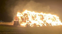 200 tonnes of farm straw destroyed in arson attack