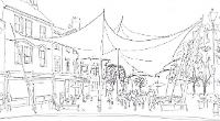 Architect wants covered area in town market place