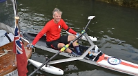 Novice rower drops in during 150-mile scull challenge