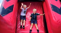 Children flock to village's first summer play weekend