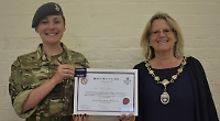 Girl, 16, who hopes to join army made Mayor's cadet