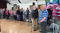 Singers in celebratory mood as new village choir holds first rehearsal