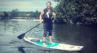 Woman to paddleboard 20 miles for children's charity