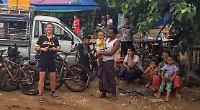 Father and son complete Burma cycle ride for charity