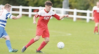 Davies' goal fires side into next round of county cup