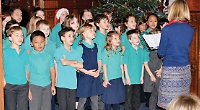 Pupils perform carols for Sue Ryder patients