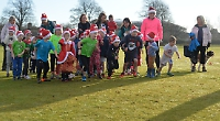 New festive fun run for children gets off to a flying start