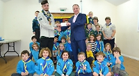 Scouts given money towards new roof on their leaking hut