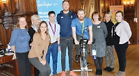 Olympic champion launches charity's cycling fund-raiser