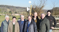 Villagers receive high-speed broadband from top of hill