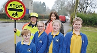 Lollipop lady means pupils can finally cross road safely