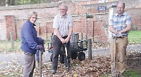Volunteers transform path to village church with planting