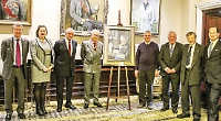 Village's painting of hero on permanent loan to RAF club