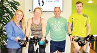 Spinathon in aid of cancer treatment for three-year-old