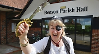 Eye cancer woman dresses up as pirate to raise awareness