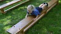 Children enjoy obstacle course