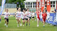 Hundreds of children take part in mini-triathlon event
