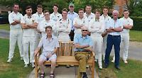 Memorial bench for long-serving members of cricket club