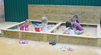 New toys and outdoor play area make learning fun