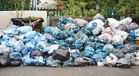 Smelly mound of trade waste at council depot