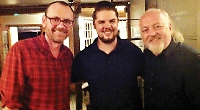 Restaurateur surprised by comedians among dinner party of 25