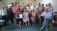 Social club manager given retirement send-off by members