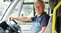 Chairman steps in to drive community bus for the day