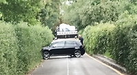 Country lane blocked three times in five days by lorries