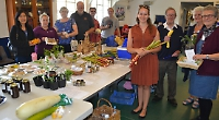 Garden produce and home-made jam on offer at food swap