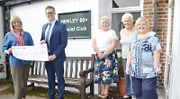 Care company boss gives £500 to 60+ club
