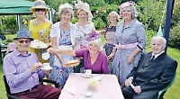 Garden tea party in aid of village church is vintage occasion