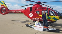 Kayaker gives £1,500 to air ambulance (with more on way)