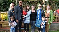 TV actor unveils new-look garden at his son's pre-school