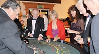Villagers enjoy flutter at Rat Pack casino and dinner night