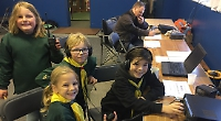 Cubs and scouts chat to their counterparts around world