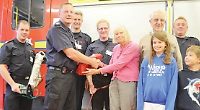 Firefighters gifted oxygen equipment to save pets in emergencies