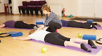 Gentle, balanced exercises in safe and supportive positions