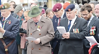 Town centre silent in remembrance of the fallen