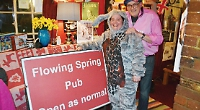 Pub celebrates re-opening of road with motoring party