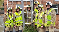 Firefighters collect £4,392 for charity